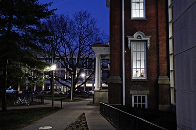 Moore Building at Night