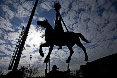 Stratton Equestrian Statue