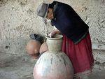 potter forming a pot