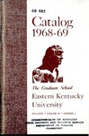 Graduate Catalog, 1968-1969 by Eastern Kentucky University
