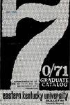 Graduate Catalog, 1970-1971