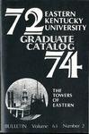 Graduate Catalog, 1972-1974