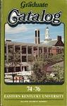 Graduate Catalog, 1974-1976