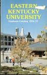 Graduate Catalog, 1976-1977 by Eastern Kentucky University