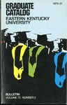 Graduate Catalog, 1979-1981 by Eastern Kentucky University