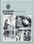 Graduate Catalog, 1984-1986 by Eastern Kentucky University