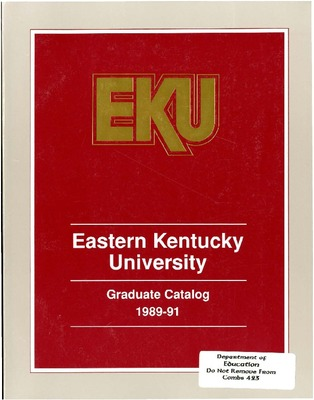 Catalog, Graduate | University Publications | Eastern ...