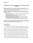 SWK 340: Exercise 3. Ethical Considerations in the Research Study Proposal by Erin Stevenson