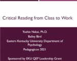 Critical Reading from Class to Work by Yoshie Nakai and Bailey Bird