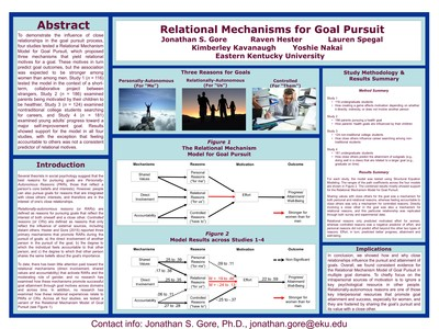 Relational Mechanisms for Goal Pursuit