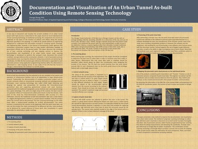Documentation and visualization of an urban tunnel as-built condition using remote sensing technology
