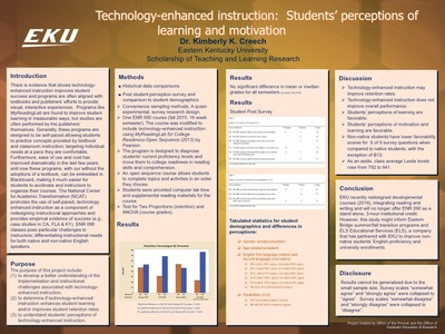 Technology-enhanced Instruction: Students' Perceptions of Learning and Motivation