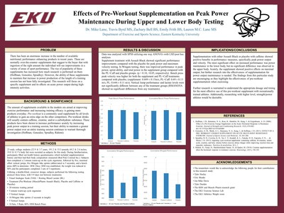 Effects of Supplementation of a Preworkout on Power Maintenance in Lower Body and Upper Body Tasks