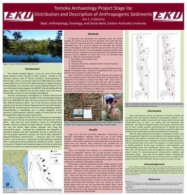 Tomoka Archaeology Project Stage IIa: Distribution and Description of Anthropogenic Sediments
