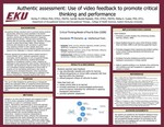 Authentic assessment: Use of video feedback to promote critical thinking and performance