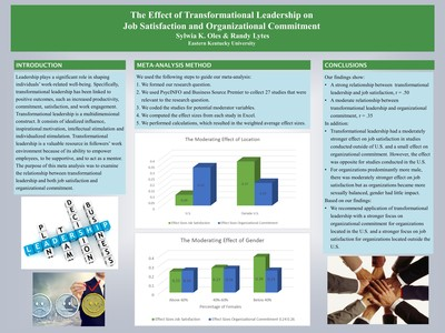 The effect of transformational leadership on job satisfaction and organizational commitment