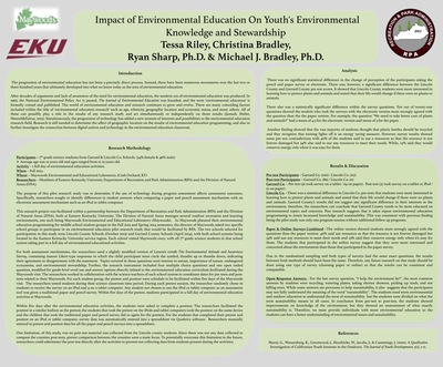 Impact of Environmental Education on Youth's Environmental Knowledge and Stewardship
