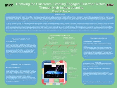 Remixing the Classroom: Creating Engaged First-Year Writers  Through High-Impact Learning