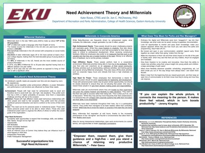 Need Achievement Theory and Millennials