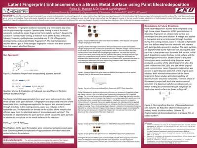 Latent Fingerprint Enhancement on a Brass Metal Surface using Paint Electrodeposition