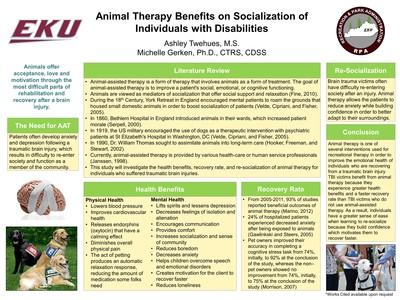 Animal Therapy Benefits on Socialization of  Individuals with Disabilities