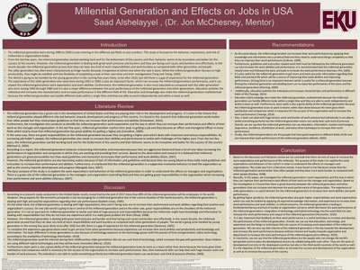 Millennial Generation and Effects on Jobs in USA