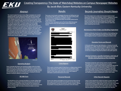 "Creating Transparency: The State of ""Watchdog"" Sites on Campus Newspaper Websites"
