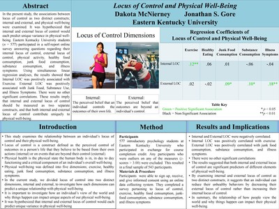Locus of Control and Physical Well-Being