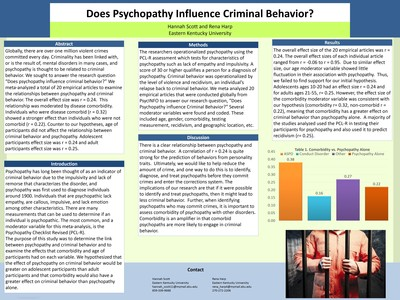Does Psychopathy Influence Criminal Behavior?