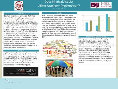 Does physical activity affect academic performance?