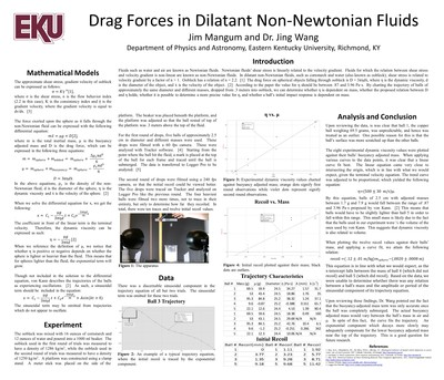 Drag Forces in Dilatant non-Newtonian Fluids