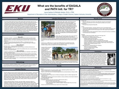 What are the benefits of EAGALA and PATH Intl. for TR?