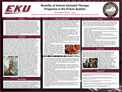 Benefits of Animal Assisted Therapy in the Prison System
