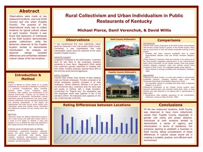 Rural Collectivism and Urban Individualism in Public Restaurants of Kentucky