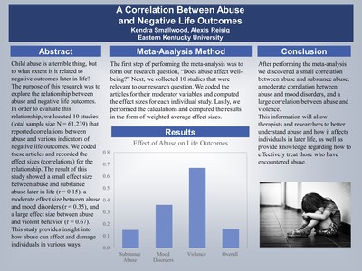 A Correlation Between Abuse and Negative Life Outcomes