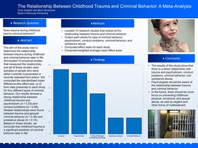 The Relationship between Childhood Trauma and Criminal Behavior: A meta-analysis