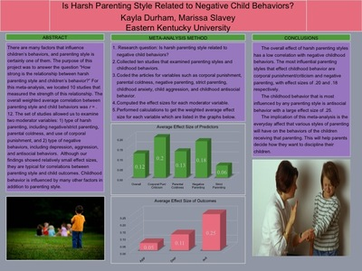 Is Harsh Parenting Style Related to Negative Child Behaviors?