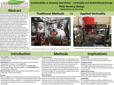 Sustainability in Brewing Operations – Verticality and Redistributed Energy