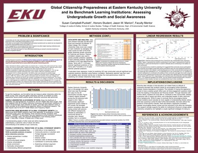 Global Citizenship Preparedness at Eastern Kentucky University and its Benchmark Learning Institutions: Assessing Strategies for Undergraduate Growth and Social Awareness