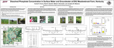 Nutrient contamination from non-point sources: Dissolved phosphate in surface and subsurface waters at EKU Meadowbrook Farm, Madison County, Kentucky