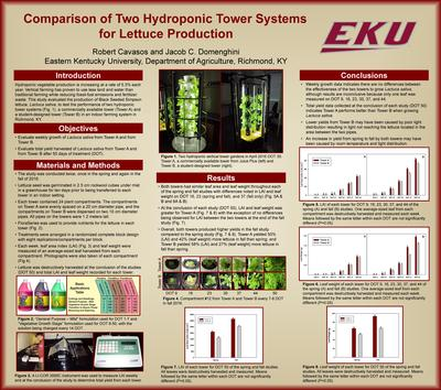 Comparison of two hydroponic tower systems for lettuce production
