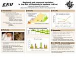 Regional and seasonal variation in the diet of Kentucky's eastern red bat
