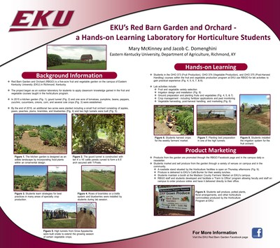 EKU's Red Barn Garden and Orchard-a Hands-on Learning Laboratory for Horticulture Students