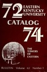 1972-74 Catalog by Eastern Kentucky University
