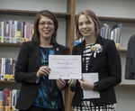 2016 EKU Libraries Research Award for Undergraduates 2nd place prize winner Rachel Gaines