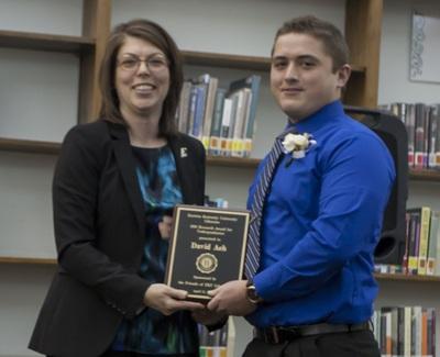 2016 EKU Libraries Research Award for Undergraduates 1st place prize winner David Aeh