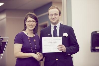 2014 EKU Libraries Research Award for Undergraduates Honorable Mention winner Phillip Kyles